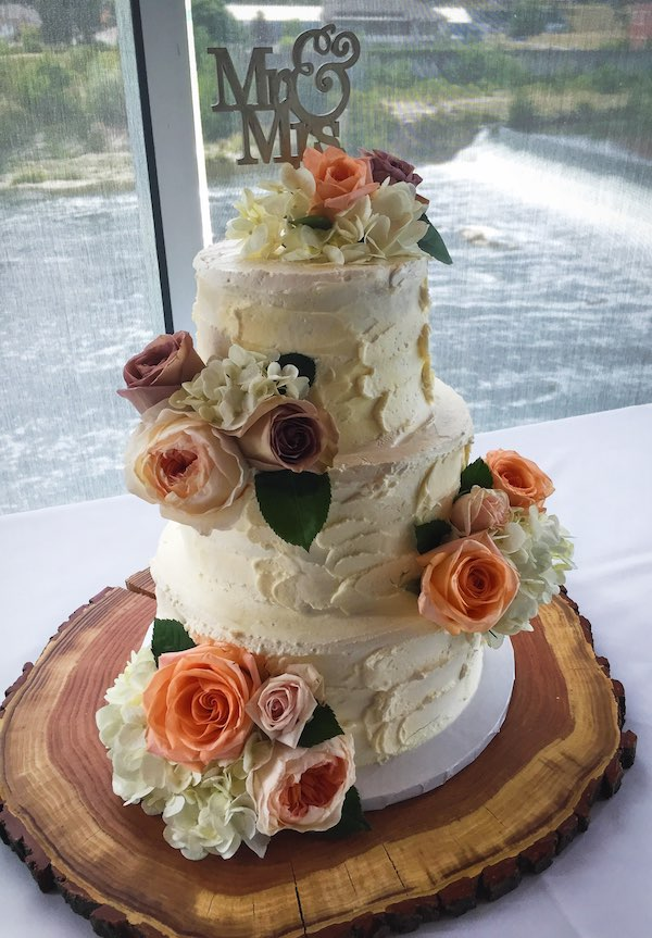 Three Tier with flowers