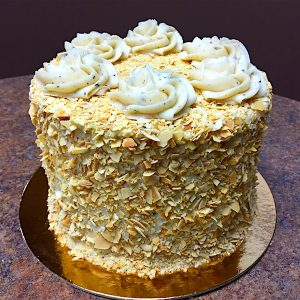 Knotty Pine Buttered Almond Cake