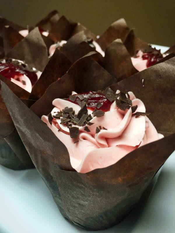 Image of Chocolate Raspberry Cupcake