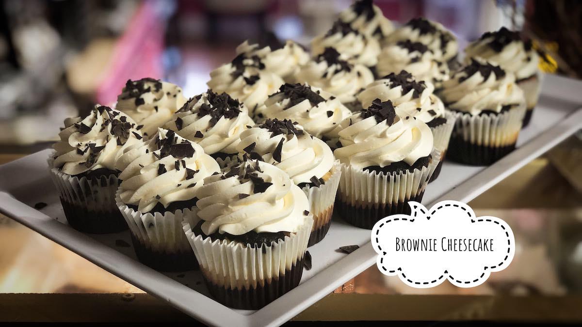 image ofr Brownie Cheesecake cupcakes