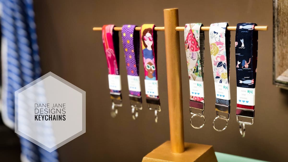 image of keychains by Dane Jane Designs