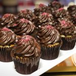 image of Chocolate Dipped Strawberries cupcakes