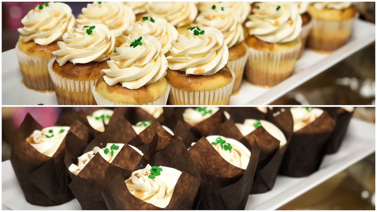 image of Bailey's Cheesecake and Guinness cupcakes