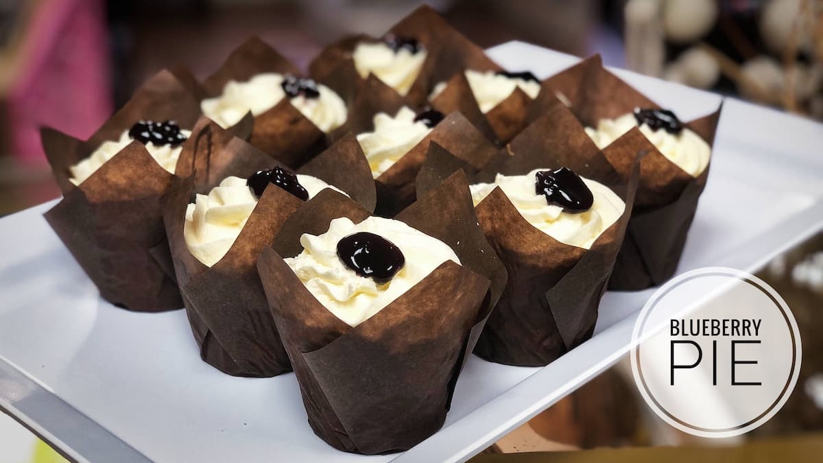 image of Blueberry Pie cupcakes