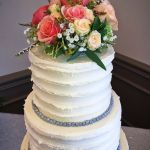 Three Tier with grey beads and large floral top