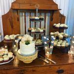 Antique dessert table setup